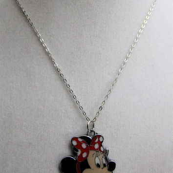 Necklace Handmade Girls Minnie Mouse Necklace-Little Girls, Girls, and Teens Jewelry