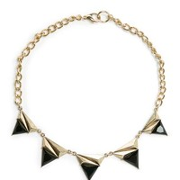 MANGO - NEW - Contrasted triangles choker