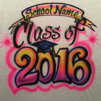 Personalized Airbrushed Graduation T-shirt