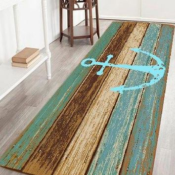 Deck Anchor Pattern Water Absorption Area Rug