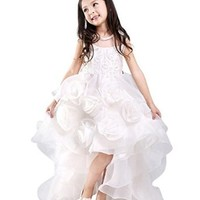 jeansian Girl Kid Wedding Cute Party Dress Shirt Top CH045