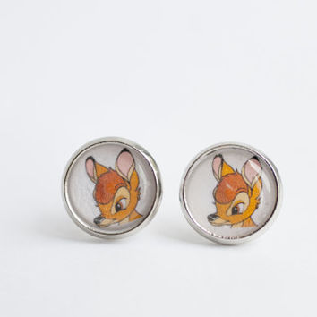 Bambi Earrings-disney,deer,movie,book,kids earrings,woodland,bambi jewelry ,fawn