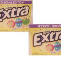 Confetti Cake Pop Extra Sugarfree Gum By Wrigley's, 2 Packs, 15 Pieces Each, 30 Pieces Total