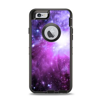 The Violet Glowing Nebula Apple iPhone 6 Otterbox Defender Case Skin Set