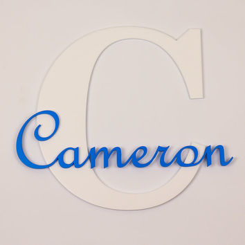 Wooden Letters For Nursery  - Wood color signs Baby name Cameron, Wooden Name, Children's Room,Wooden Letters For Wall, Wall Decor