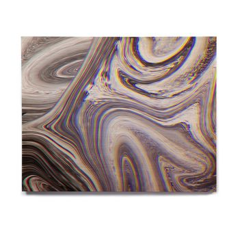 "Tobe Fonseca ""Marble Glitch Pattern II"" Black White Abstract Digital Mixed Media Birchwood Wall Art"