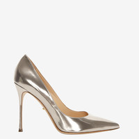 Sergio Rossi Godiva Pointy Toe Stiletto: Rosegold at INTERMIX | Shop Now | Shop IntermixOnline.com