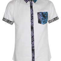 Tribal Print Trim Shirt