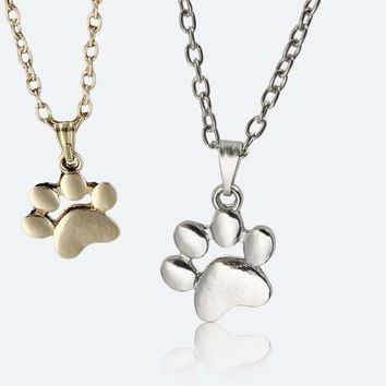 Small Paws Print Necklace