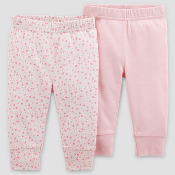Baby Girls' 2pk Pants - Just One You™ Made by Carter's® Blush