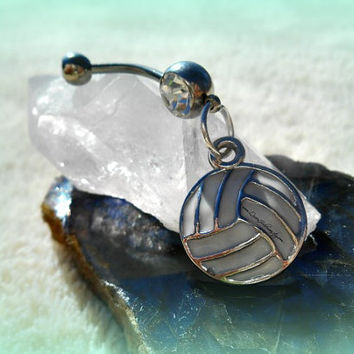 Beach Volley Ball Belly Ring, Beach Wear, Sports, Team, Preppy, Ready to ship, Direct Checkout