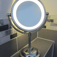 Round Magnifying LED Illuminated Bathroom Make Up Cosmetic Shaving Vanity Mirror