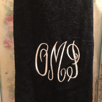 Monogram Towel Personalize gift Birthday Gift Retirement Gift Wedding Gift