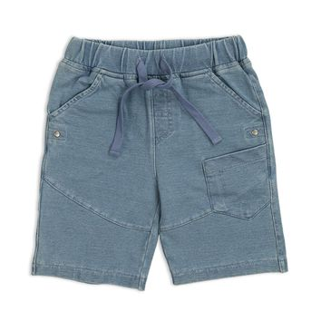 LeJin Children Boys Clothing Knitted Jeans Shorts for Summer Wear