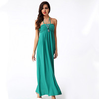 Summer Spaghetti Strap Backless Beach Bohemia Prom Dress [4918233284]