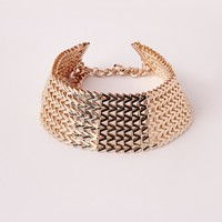 Missguided - 70's Chain Link Choker Gold