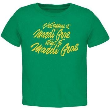 PEAPGQ9 What Happens at Mardi Gras Stays Toddler T Shirt