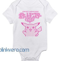 Monster Pikachu Awesome Baby Onesuit Unisex Cute all size boy girl