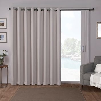 ATI Home Sateen Blackout Solid Grommet Top Wide Patio Curtain Panel - 100 x 84 | Overstock.com Shopping - The Best Deals on Curtains