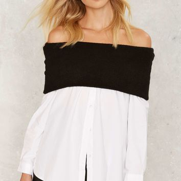 Asilio Favourite Odds Off-the-Shoulder Shirt