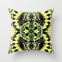 Ganesha Throw Pillow by Zandonai