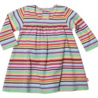 Zutano Baby Girls' Super Stripe Princess Dress, Multi, 18 Months