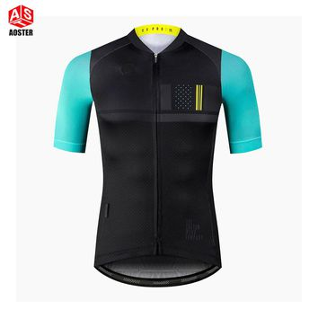 AOSTER Brand 2018 Quick Dry Breathable Cycling Jersey Short Sleeve Summer Men's Shirt Bicycle Wear Racing Tops Cycling Clothing
