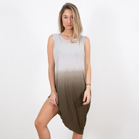 Olive Ombre Dress | Disruptive Youth