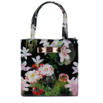 DCCKN6V Ted Baker Flower Women Shopping Leather Handbag Tote Satchel bag