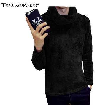 Winter Men Sweaters Korean Turn-down Collar Slim Fit Casual Fashion Mens Turtleneck Sweater Ropa De Hombre Moda 8 Color