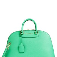 Dolce&Gabbana 'Stampa Dauphine' Dome Saffiano Leather Satchel