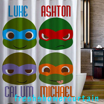 5 second of summer NINJA Shower Curtain