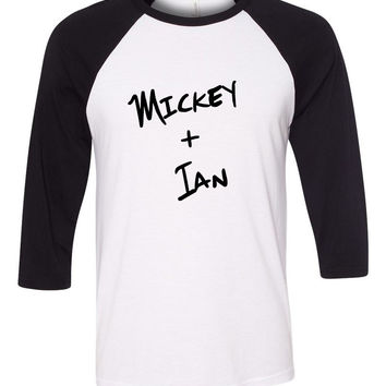 "Shameless TV Show ""Mickey + Ian"" Baseball Tee"