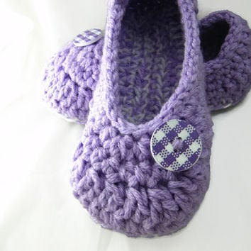 Ladies Slippers, Womens Slippers , House Shoes , Crochet Slippers ,Winter Accessory , Your Size