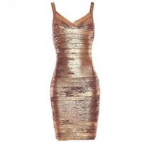 Amazon.com: Wiipu Women's sexy Bodycon Sheath Dress Thin Strap Woodgrain Foil Print Dress(wiipu-377): Clothing