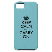 Blue Curacao Keep Calm And Carry On iPhone 5 Case