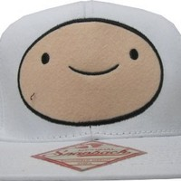 Adventure Time Finn Face White Snapback Adjustable Baseball Cap