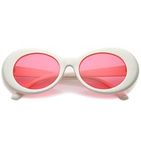 Women's Retro Disco Oval Clout Color Tone Lens Sunglasses 51mm C382
