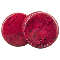 Radish Red Stone Plugs (3mm-25mm)