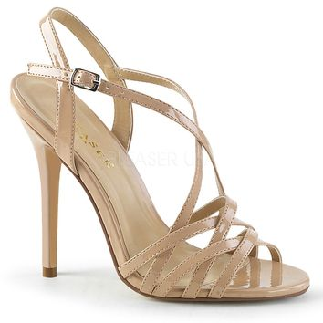 Pleaser Amuse Strappy Nude Pumps