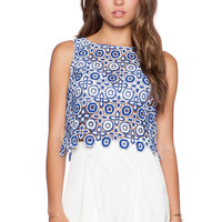 BB Dakota Lily Crop Tank in Blue