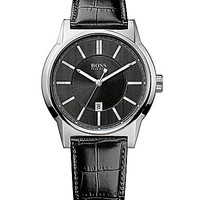 BOSS Hugo Boss Architecture Black Dial Analog Watch - Black