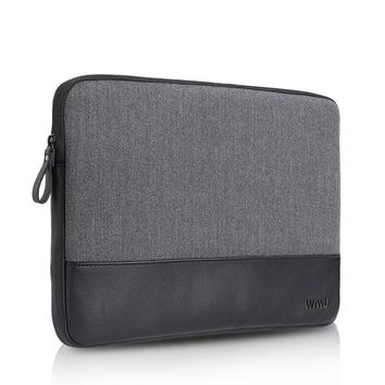 Laptop Sleeve Case Soft Genuine Leather Notebook Case for MacBook Air Pro