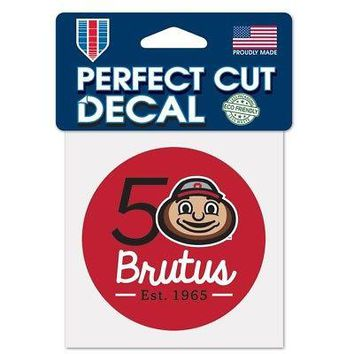 Licensed Ohio State Buckeyes NCAA Brutus 50th Perfect Cut Car Decal by Wincraft 131140 KO_19_1