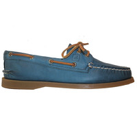 Sperry Top-Sider A/O 2-Eye - Weather Worn Petrol Boat Shoe STS93534