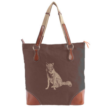 Burghley Tote with Fox Design