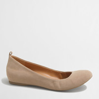 Anya Suede Ballet Flats : Women's Shoes | J.Crew Factory