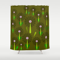 zappwaits Flower Shower Curtain by netzauge