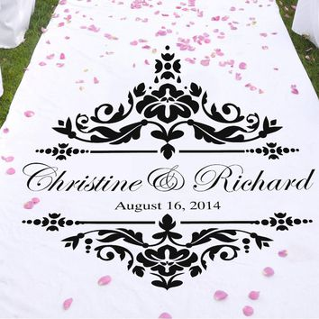 Personalized Vinyl Sticker For Aisle Runners, Table Runners Or Signs Wedding
