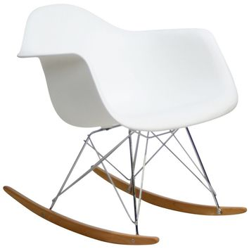 Modern Avant Rock Chair, White